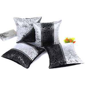 White Leather Throw Pillow : Vintage 45cm x 45cm Black White Leather Cushion Cover Throw Pillow Case Square eBay