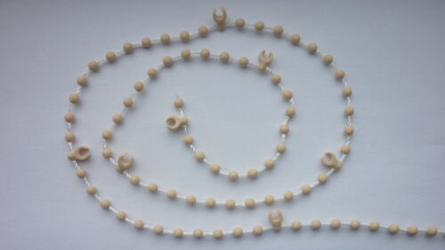 stabilisation // nope chaîne beige bas chaîne de stores verticaux // s 89 mm 3,5 po