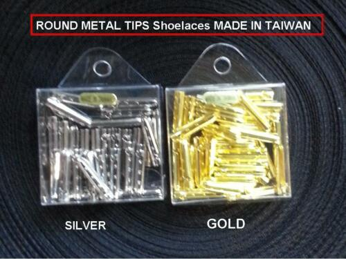 50 PCS 75PCS 130 PCS  ROUND METAL TIPS  Shoelaces MADE IN TAIWAN