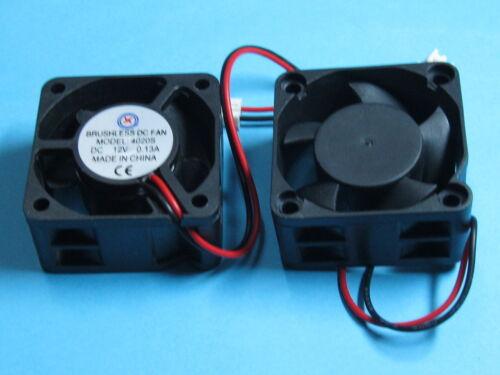 1 pcs Brushless DC Cooling Fan 12V 4020S 5 Blades 40x40x20mm Sleeve-bearing 2pin