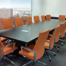 Espresso Modern Conference Room Table 16 Foot Or 7 8 10 12 Ft Boardroom Meeting
