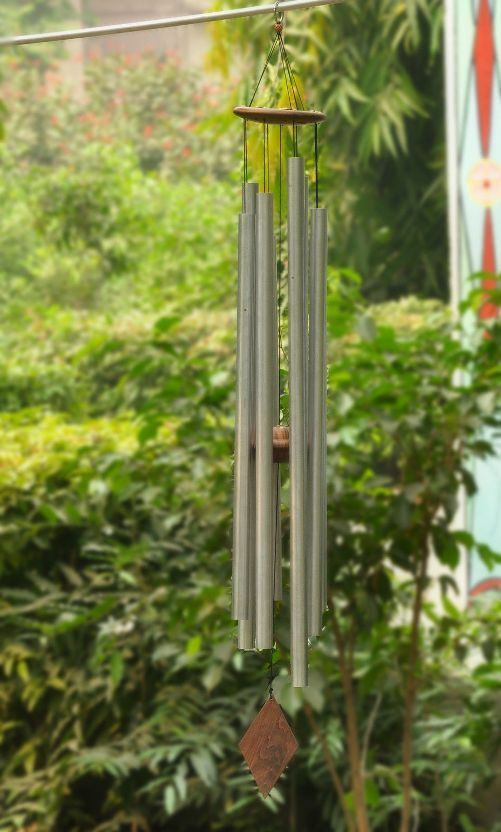 5 Feet Chakra Wind Chime tuned to chakra frequencies+528 Tuning fork free