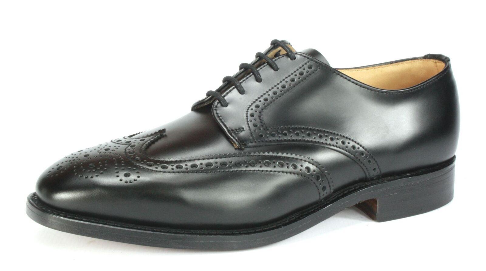 Charles  Horrel Brish Handmade Welted Mens Winspit Leather Brogue scarpe nero  per offrirti un piacevole shopping online