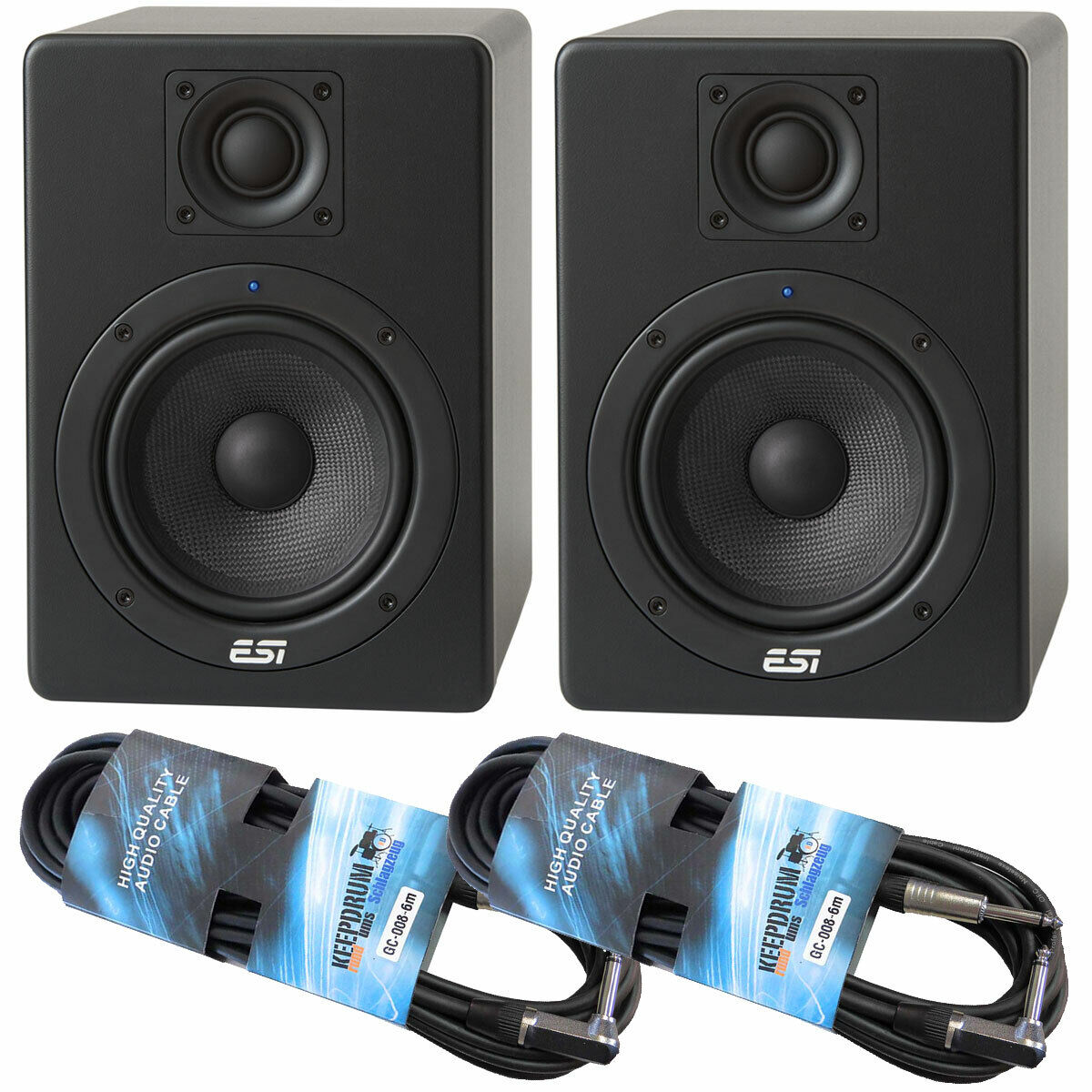 Esi Active 05 Monitor-Boxen 1 Paar 2x Keepdrum Jack Cable