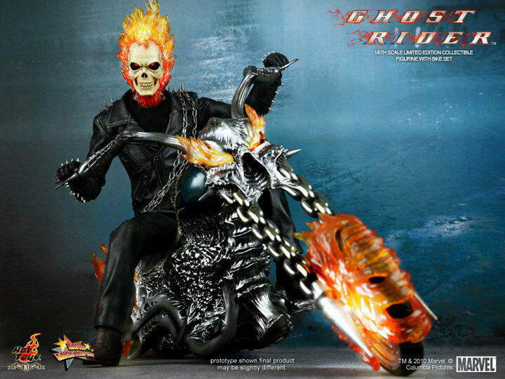 Hot Toys 1 6 Marvel Ghost Rider MMS133 Johnny Blaze & Hell Cycle Action Figure
