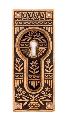 Potted flower bronze pocket door pulls handles eastlake