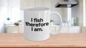 Fish-Mug-White-Coffee-Cup-Funny-Gift-for-Angler-Fisherman-I-fish-therefore-I-am