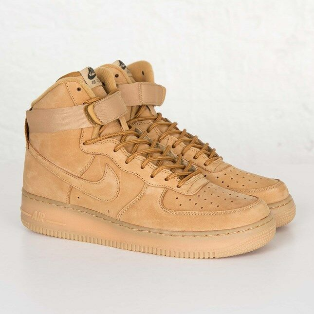 Nike Air Force 1 High ´07 Lv8 Flax 806403-200 Men Size US 9.5 New 100% Authentic