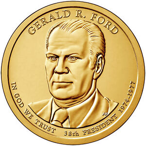 2016 P Gerald R Ford Presidential Dollar Position A in Mint Set Wrapper