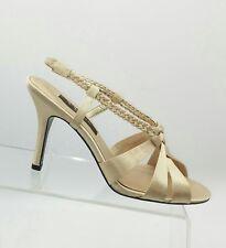 87be71ead426 item 2 Nina Slingbacks Evening Sandals 7.5 Champagne Beige Satin Dress Shoes  Heels EUC -Nina Slingbacks Evening Sandals 7.5 Champagne Beige Satin Dress  ...