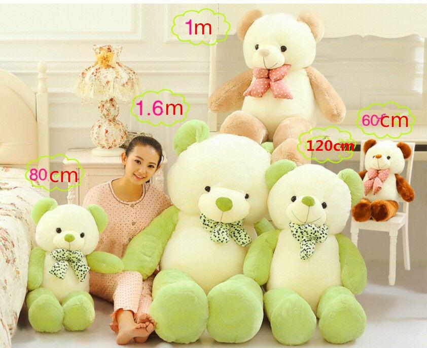 Riesige großer teddybär plüsch baby stofftiere weiche puppe spielzeug geschenk c23 neuesten