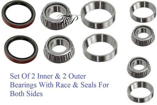 1987-1996 DODGE DAKOTA Front Wheel Bearing /& Race /& Seal Kit RWD