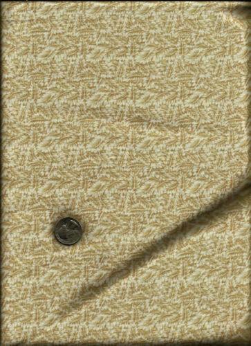Nice Tossed Tan Floral Leaf Print on ecru Fabric by Kona Bay 2000