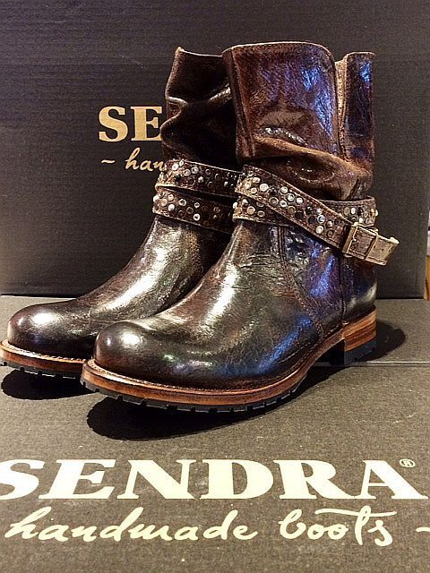 Sendra Stivali Biker in Pelle 12047  barbardos Quercia  Hefatto in Spain