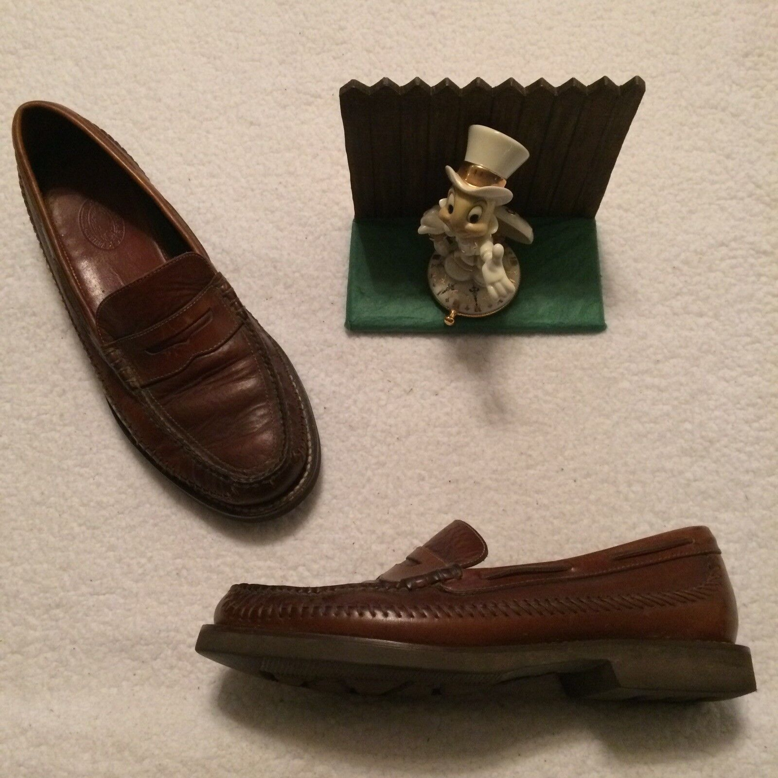 HS Trask Brown Leather Penny  Loafers Men Size 9.5 M OXC69... Minimal Wear