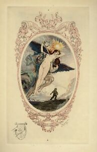 1923 Auguste Leroux E. Decisy Estampe Originale Eau-forte Tirage Japon à 200 Ex.