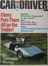 Car & Driver 08/1968 featuring Chevy II Nova SS test, Sunbeam, Fiat, Mercedes