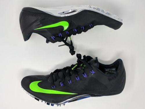 Nike Zoom Superfly R4 Black/Green Men's Sprint Track Cleats 526626-053 Seasonal price cuts, discount benefits