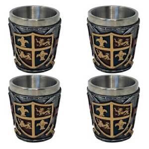 4er Set Schnapsbecher Shotglas Wappen