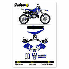 1993-1995 YAMAHA YZ 125 250 Graphics Kit  Seat Cover Motocross Graphics Enjoy