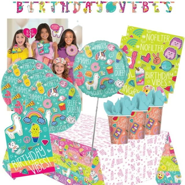 SELFIE CELEBRATION PAPER TABLE COVER ~ Birthday Party Supplies Decorations Cloth