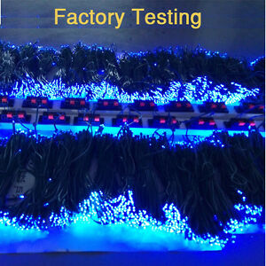 400-LED-Solar-String-Light-Blue-Outdoor-Garden-yard-Xmas-Party-Decor-UK-STOCK
