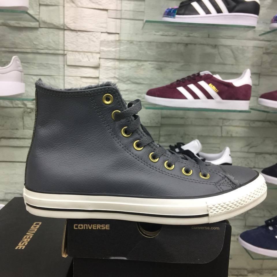 Schuhe Converse All Star in pelle con pellicciotto sintetico Grigie pelliccia