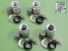 Set of 4 VALVE STEM TIRE PRESSURE SENSOR REBUILD SERVICE KIT TPMS nut SET-1050