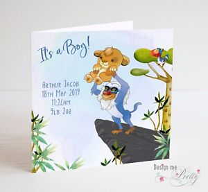 Personalised Baby Card Baby Brother Card New Baby New Baby Card Son Card Grandson Birth Card Nephew Card Baby Boy