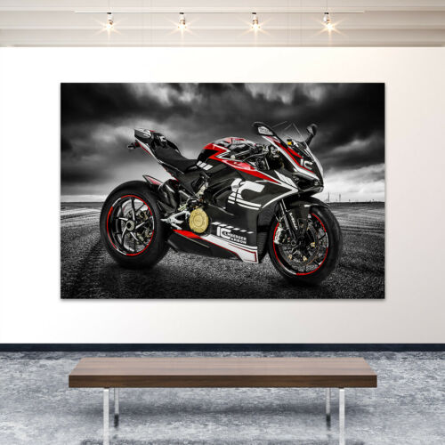 Acrylic Glass Wall Picture Ducati Panigale Abstract Art Print Picture Poster Motorcycle