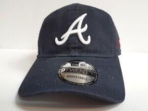 buy popular cb2d3 c92ea Image is loading Atlanta-Braves-Adjustable-Cap-Strapback-New-Era-9Twenty-