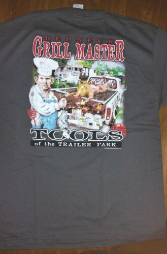 New REDNECK GRILL MASTER T-SHIRT TOOLS OF THE TRAILER PARK----FUNNY  SHIRT