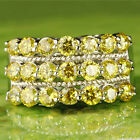 Delicate Jewelry Round Cut Citrine Gemstone Silver Ring Size 7 Free Shipping