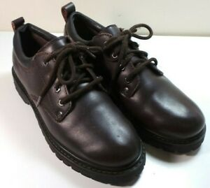 skechers men's brown oxford leather work shoes size 95