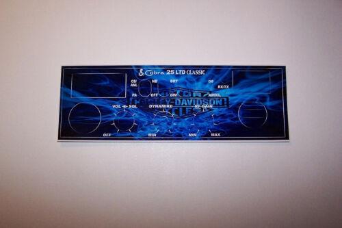 Cobra 25 LTD Front Mic Face Plate Decal CB Radio any Design//Color Uniden Connex