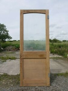 GL24e-29-3-4-x-77-3-4-Old-Victorian-Period-Glazed-Pine-Door-with-Clear-Glass