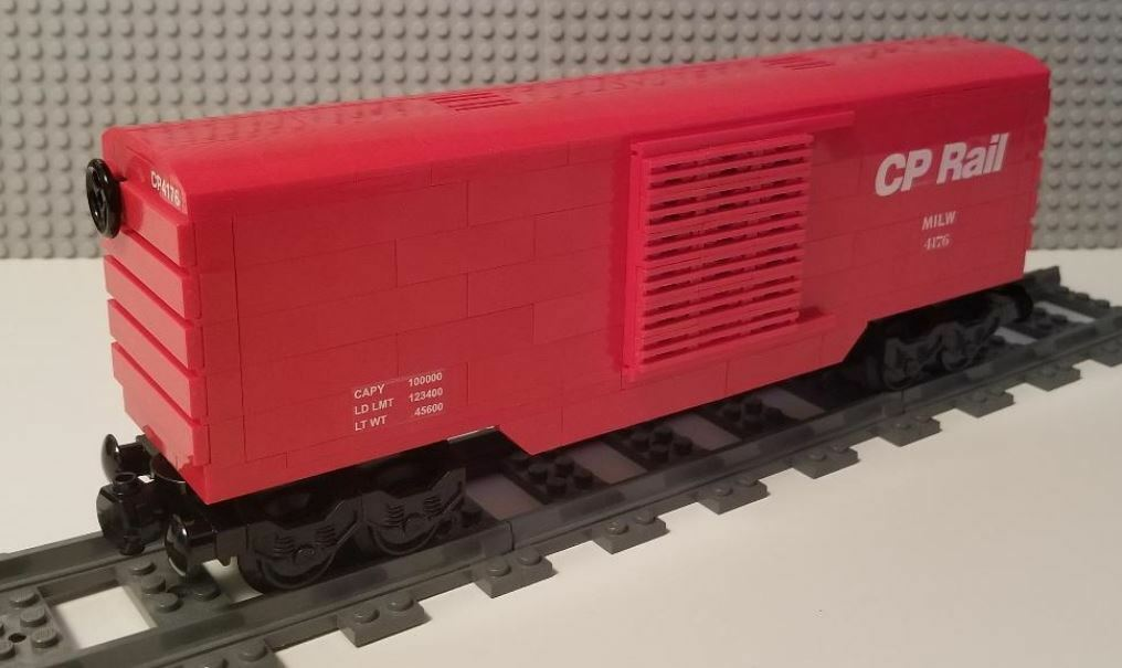 Lego Train Boxcar Canadian Pacific 02  -- PLEASE READ ITEM DESCRIPTION --