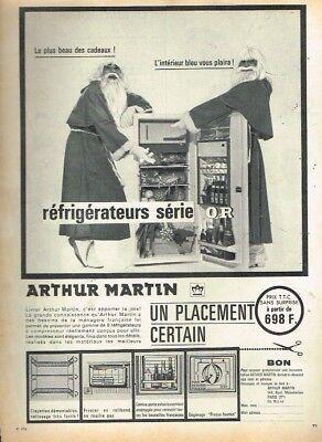 Breweriana, Beer Publicité Advertising 1963 Le Refrigerateur Arthur Martin C
