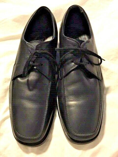 TODS  TOD MENS BLACK LEATHER OXFORD CASUAL SHOES  SZ 6.5 36 6 1 2
