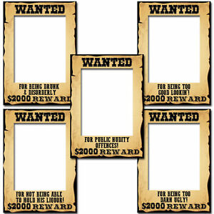 A3-Wild-West-voleva-Segno-Poster-Cornice-Foto-Da-Cowboy-Prop-Selfie-Party-Decorazione