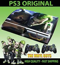 PLAYSTATION PS3 ORIGINAL JOKER AND HARLEY CRAZY LOVE GOTHAM SKIN & 2 X PAD SKINS