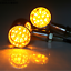 2x-Black-LED-Motorcycle-Turn-Signal-indicator-Light-Harley-Ultra-Tour-Glide-clas thumbnail 5