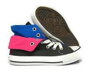 fcbbda46710e97 Converse All Star Chuck Taylor TWO FOLD Hi Shoes Charcoal Blue Pink ...
