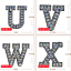 miniature 7 - Rhinestone Letter Patches Sew on Iron on Alphabet Patch Letters Embroidered A-Z