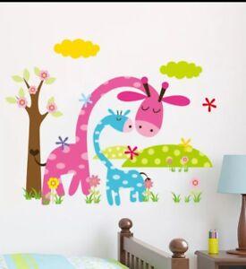 Children/'s bedroom playroom nursery giraffe wall decoration sticker