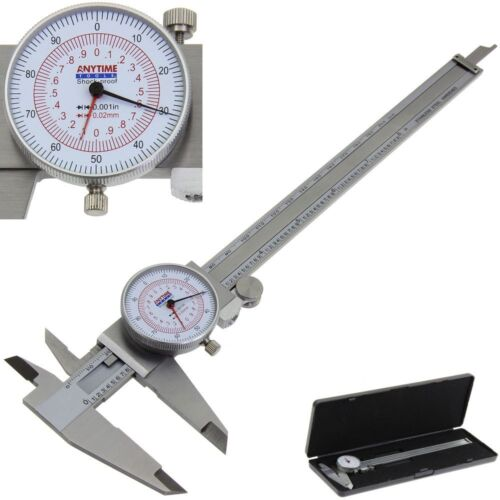 "Dial Caliper 8/"" 200mm Dual Reading Scale Metric SAE Standard INCH MM Anytime"