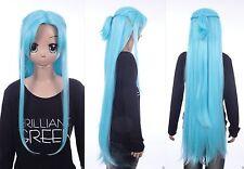 W-641 Sword Art Online ALO Alfheim Asuna Yuuki blau 105cm Cosplay Perücke Wig