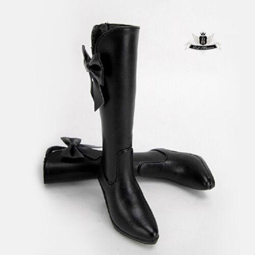 1//4 BJD Shoes MSD Black Boots Supper Dollfie Dream MID Luts AOD DZ DOD SOOM AF