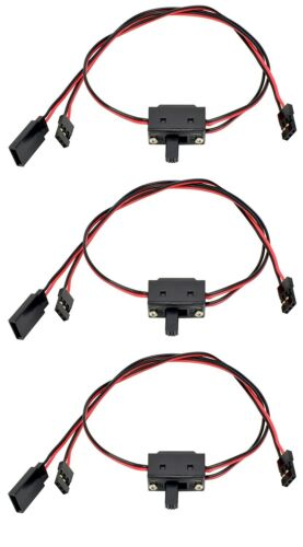 3 Pack #1056 Apex RC Products JR Style 3 Way On//Off Switch W// Charge Lead