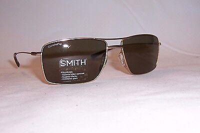 SMITH OPTICS TURNER SUNGLASSES GRAY//GREEN POLARIZED ChromaPop™ w//MATTE GOLD NWOT